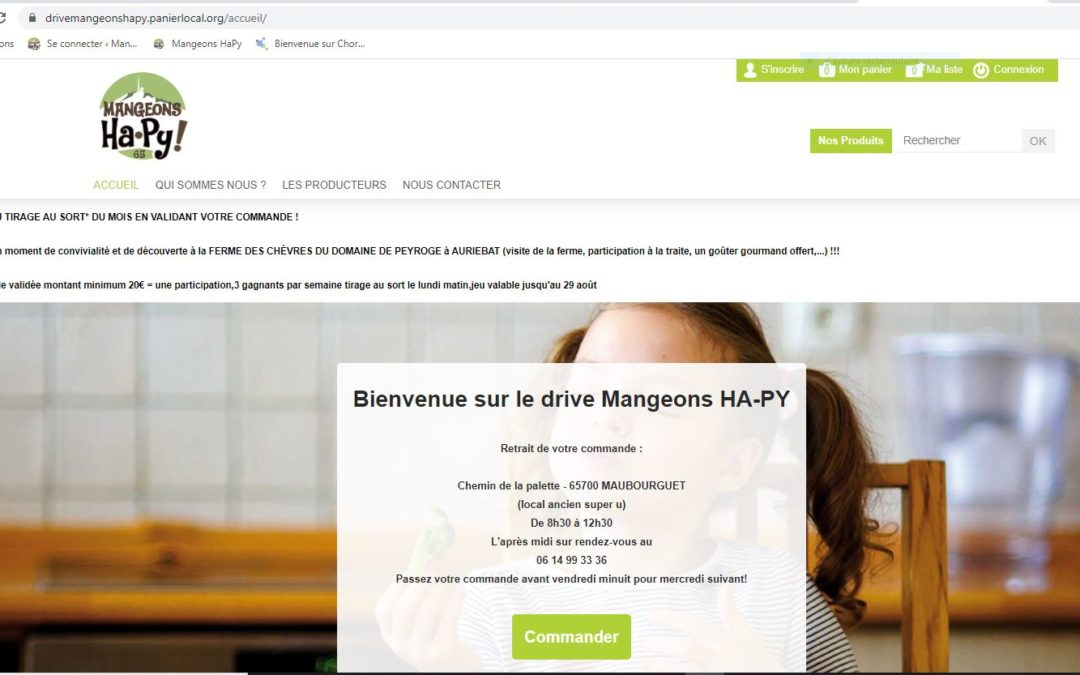 Le drive Mangeons Ha-Py pour les particuliers ! https://drivemangeonshapy.panierlocal.org/